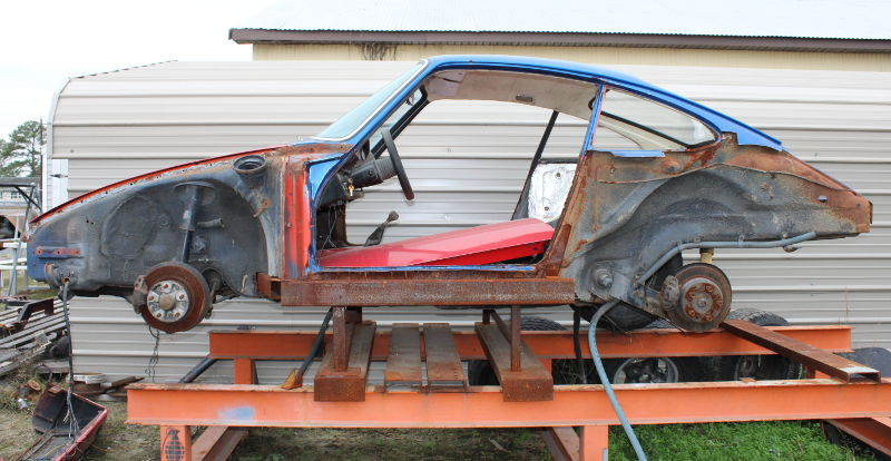 1965 Porsche 912 accident damage